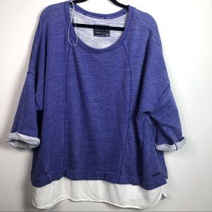 Andrew Marc Performance Purple Pullover